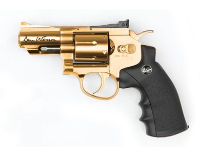 "Hodinky Vzduchový revolver Dan Wesson 2,5"" gold cal. 4,5 mm"
