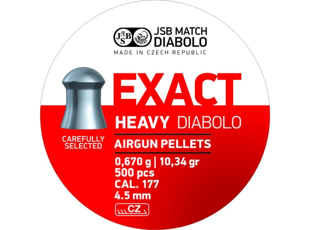 Diabolky JSB Exact Heavy 4,52mm 500ks