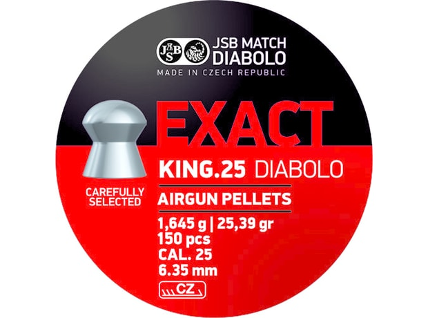 Diabolky JSB Exact King 6,35mm 150ks